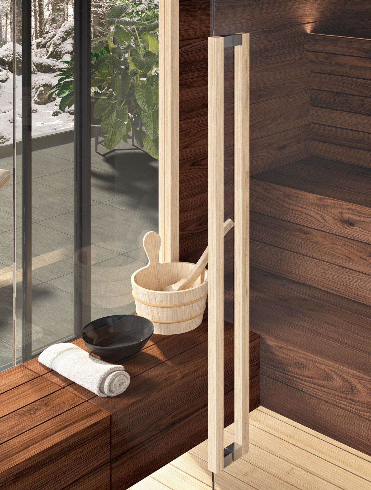 Sauna Modula S Combi Particolare